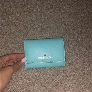 Kate spade small wallet Aqua